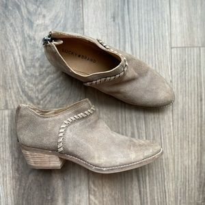 8.5 LUCKY BRAND Fawnn Brindle Leather Booties